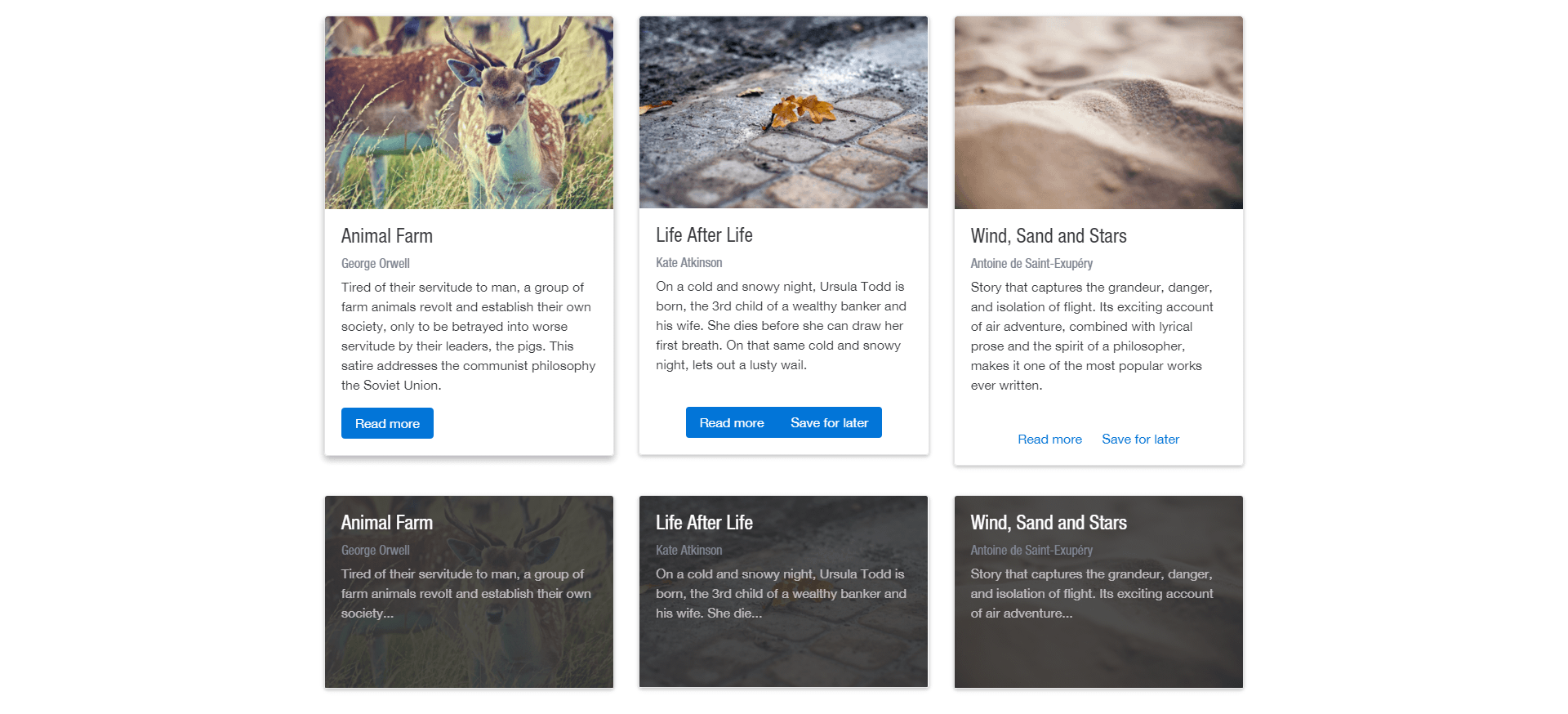 Mastering card design with bootstrap 4 for Bootstrap table no border